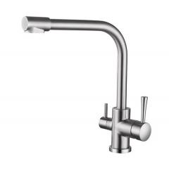 KAISER Merkur 26044-5 Смеситель для кухни под фильтр серебро (матовый)
