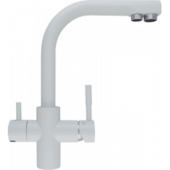 Кран комбинированный (хол/гор + питьевая) atoll 0212-L (белый)